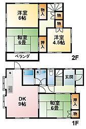 [一戸建] 千葉県東金市極楽寺 の賃貸【/】の間取り