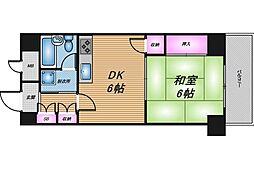 トーカンマンション東梅田[5階]の間取り