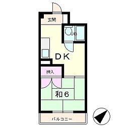 フレールロック[2階]の間取り