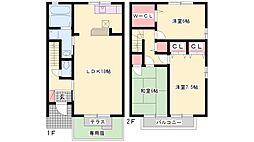 [テラスハウス] 兵庫県三木市平田 の賃貸【/】の間取り