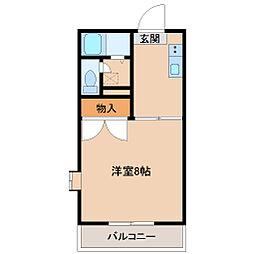 埼玉県坂戸市中富町の賃貸マンションの間取り