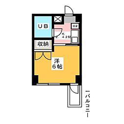ウイングマンション[4階]の間取り