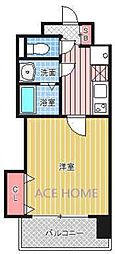 Luxe新大阪III[407号室号室]の間取り