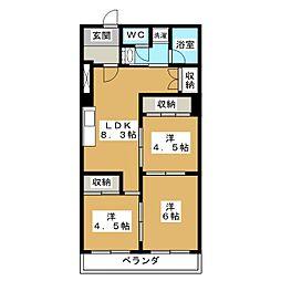 ファーストコート今出川北[6階]の間取り