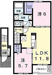 H・Tミニョン姫路[203号室]の間取り