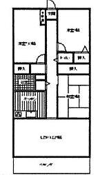 シティパーク北野田(登美丘西小学校区)[2階]の間取り