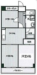 第2千代田マンション[4階]の間取り