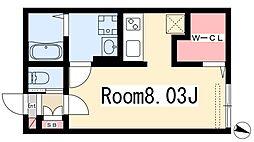 Branche桜山Chambre 3階ワンルームの間取り