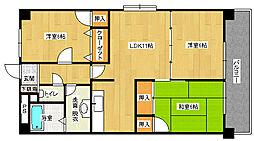 グリーンパークヨシハラ[7階]の間取り