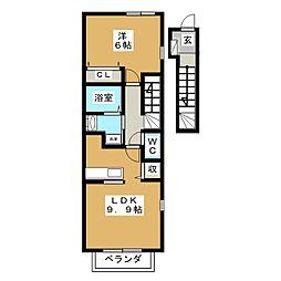 プロムナードA[2階]の間取り