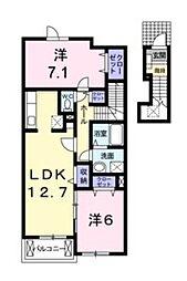 アバンツァート弐番館[2階]の間取り
