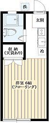 メゾンムサシノ[102号室]の間取り