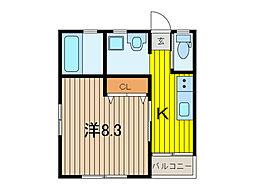 キューブコンポ[1階]の間取り