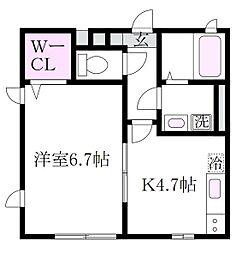 ロータス西荻[1階]の間取り