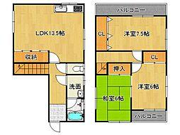 [一戸建] 奈良県御所市三室 の賃貸【/】の間取り