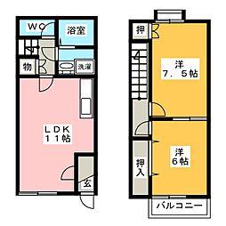 [テラスハウス] 愛知県あま市甚目寺松山 の賃貸【/】の間取り