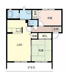 ラフィナートC[1階]の間取り
