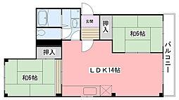 グランジュール武庫川[3階]の間取り