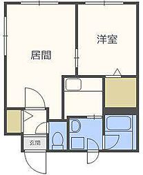 北海道札幌市東区北二十二条東16丁目の賃貸マンションの間取り