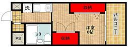 アニメイト大阪[313号室]の間取り