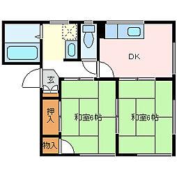 フレグランスカドヤ[1階]の間取り