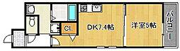 大阪府大阪市平野区長吉長原3丁目の賃貸アパートの間取り