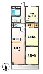 LONE STAR茶屋が坂[1階]の間取り