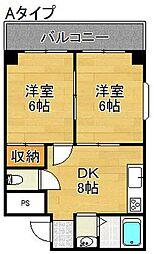 グランドール住之江[8階]の間取り