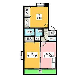 ルーブルII[1階]の間取り