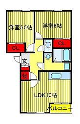 レジデンスK1[103号室]の間取り
