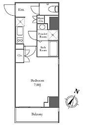 Pianeta麻布十番[7階]の間取り