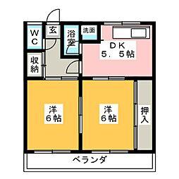 奥山アパート[1階]の間取り