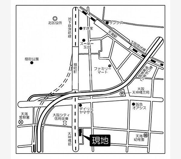 コンフォリア扇町のコンフォリア扇町 地図