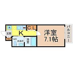 エルザビル名古屋駅前[1405号室]の間取り