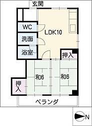 Ahomu ア・ホ・ム[1階]の間取り