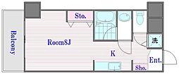 モノリスワン[2階]の間取り