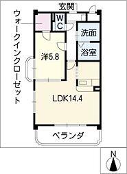 サプリーム苧ヶ瀬[2階]の間取り