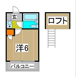 NK62 A棟[2階]の間取り