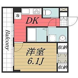 千葉県成田市玉造3の賃貸マンションの間取り