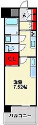 JR鹿児島本線 戸畑駅 徒歩4分の賃貸マンション 14階1Kの間取り