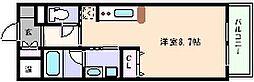 阪神本線 石屋川駅 徒歩5分の賃貸マンション 3階1Kの間取り