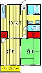メイプルK[2階]の間取り