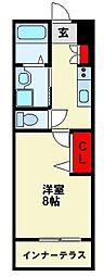 JR筑豊本線 若松駅 徒歩13分の賃貸マンション 1階1Kの間取り