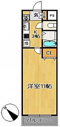 ユーコン南柏[118号室号室]の間取り