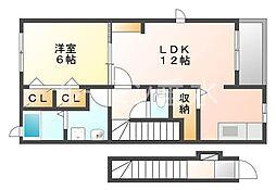 クレメント神陵台[2階]の間取り