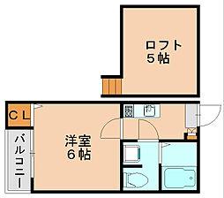 カサボニタII[2階]の間取り