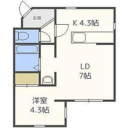 レストパークIII[3階]の間取り