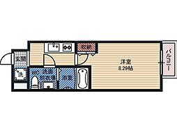 ドゥエリング都島 7階1Kの間取り