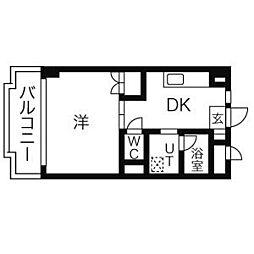 パティオ新栄[4階]の間取り