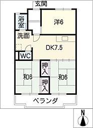 氏神前ヤマチハイツ[1階]の間取り